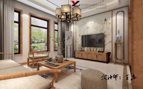 白桦林间180㎡新中式风格装修效果图
