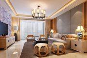 国际城新中式三居家装效果图
