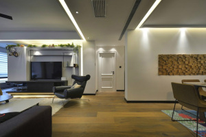 永泰大名城140平米现代三居室现代简约装修效果图