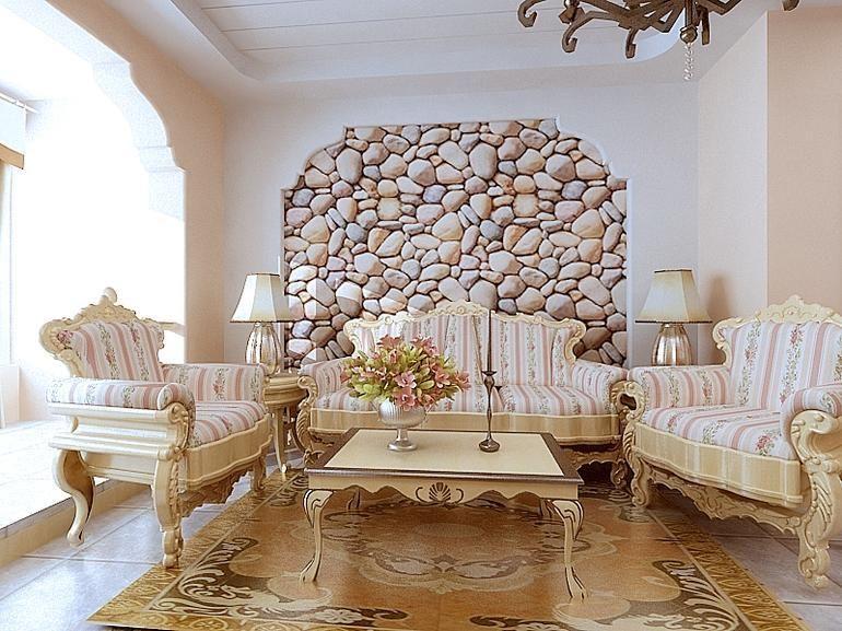 皇冠国际简欧风格105三居室家装效果图