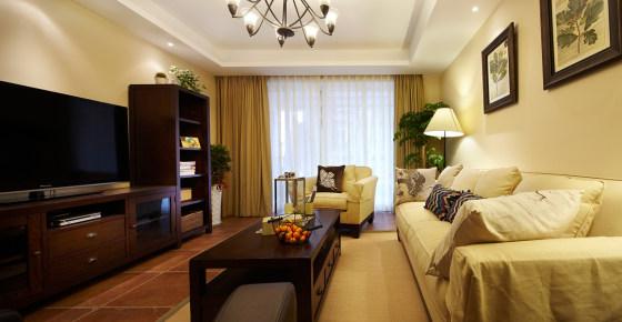 润城140平美式风格四居家装效果图