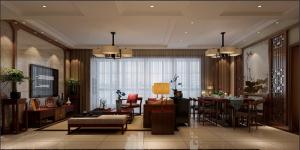 东源长岛新中式风格三居家装效果图