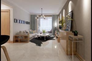 万达维多利亚湾三居室现代简约风格家装效果图