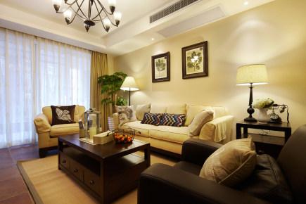 润城小区140平美式风格三居装修效果图