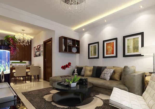 古典风格客厅背景墙装饰画图片