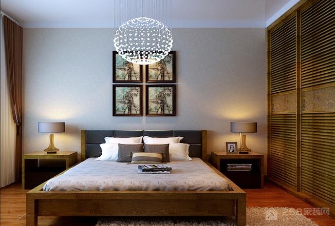 古典风格卧室板式双人床图片