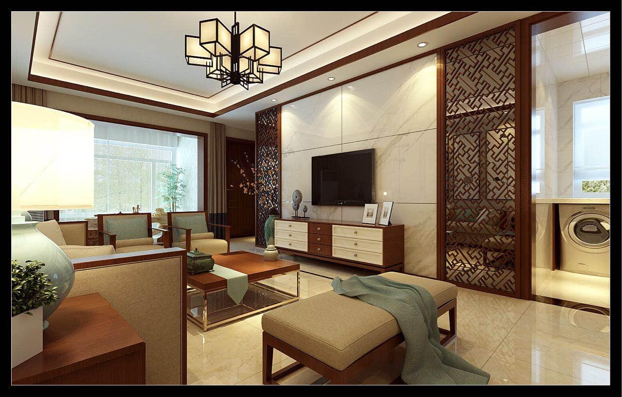 曲江龙邸B区95平中式风格二居装修效果图