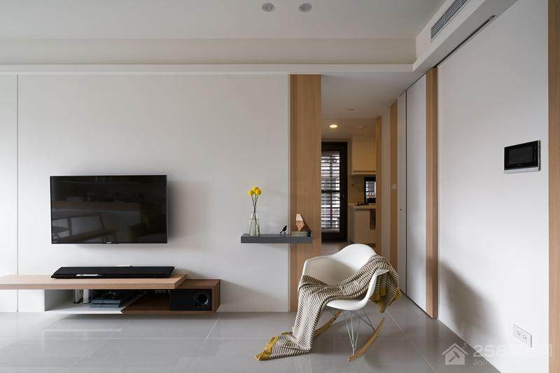 南昌鲁公大宅装饰:56平一居现代简约装修效果图