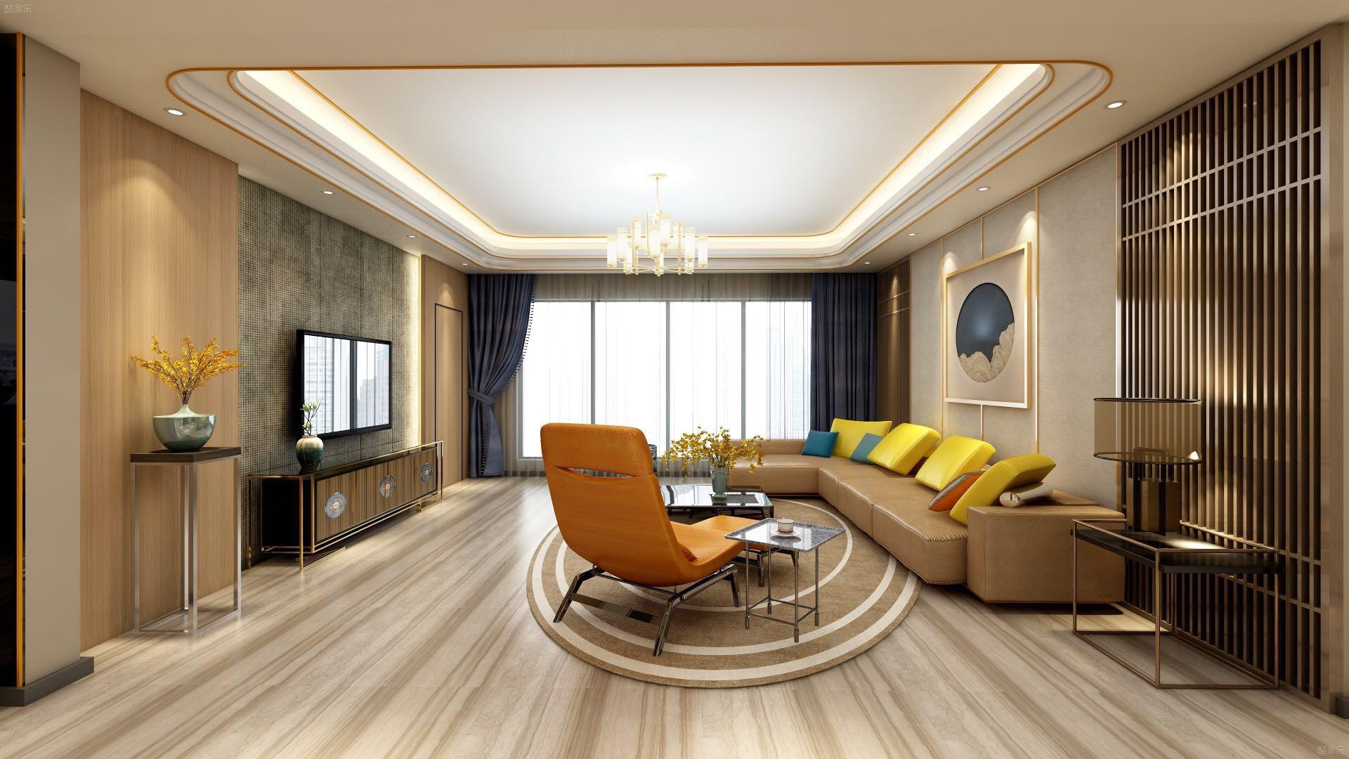 峰景湾4室2厅2卫现代简约装修效果图