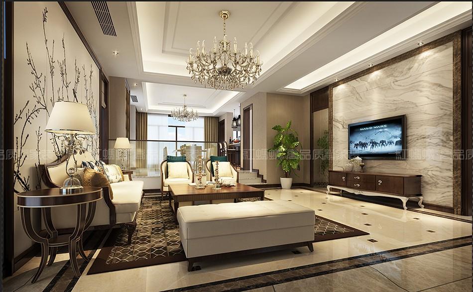 保利香槟国际别墅现代简约装修效果图