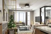 君悦华府 120平 现代简约三居装修效果图