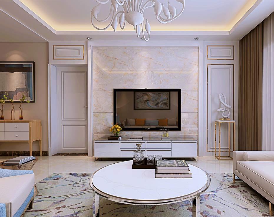 远大美域-126㎡-现代风格三居装修效果图