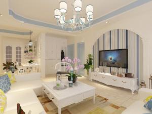 华府家园四室两厅两厨两卫欧式装修效果图
