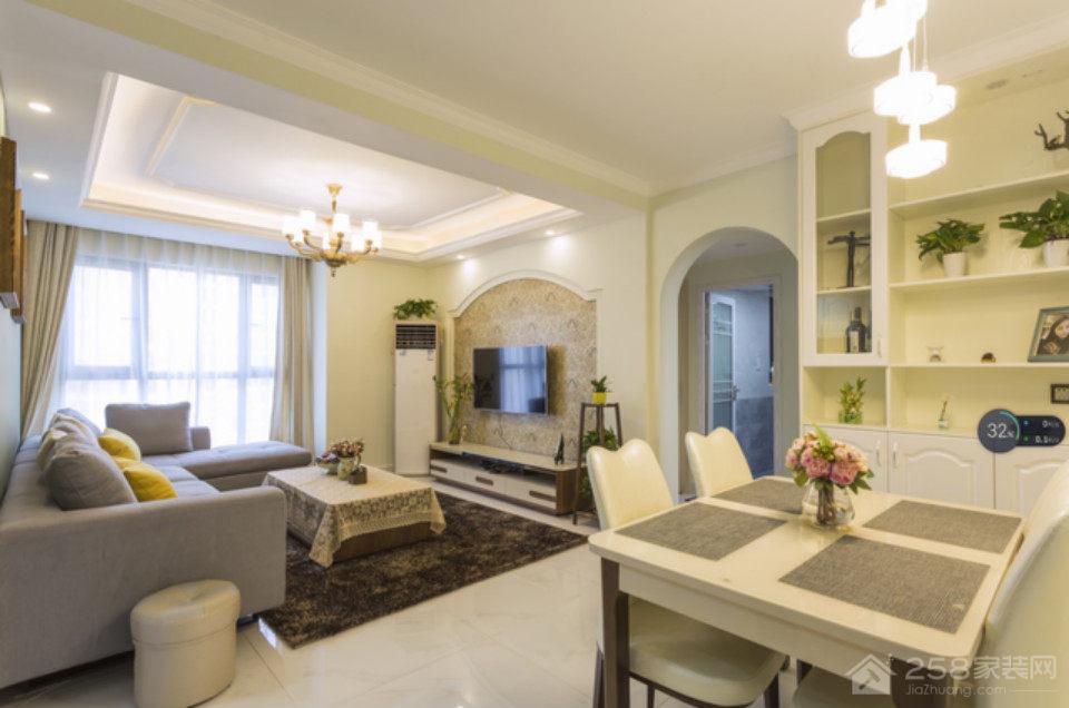 丹枫白鹭两室两厅美式装修效果图
