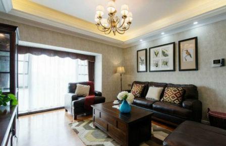 杨南新城三室两厅新古典装修效果图