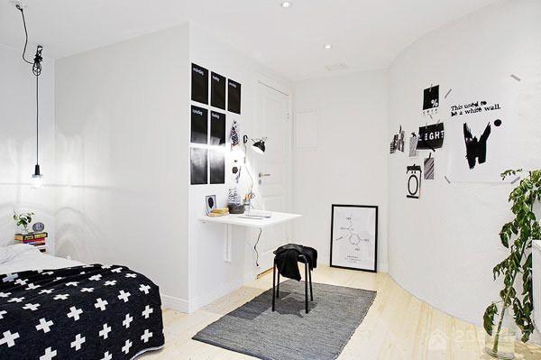 简约风白色装修卧室阅读角图片