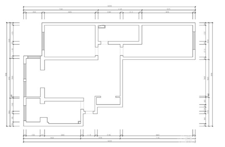 西安欧式二居家装效果图