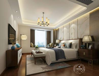 星河传奇135平四居室现代中式风格家装效果图