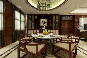 中式风格(泰山御园)三居装修效果图