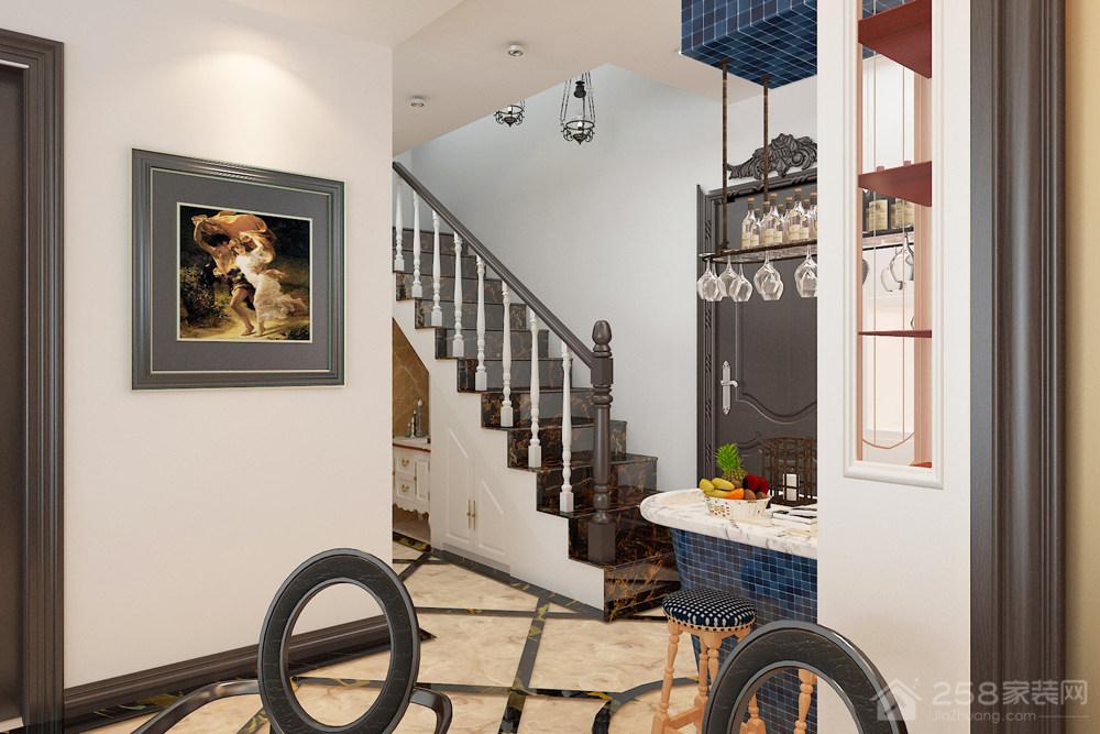 76㎡欧式古典风复式挑高层家装效果图