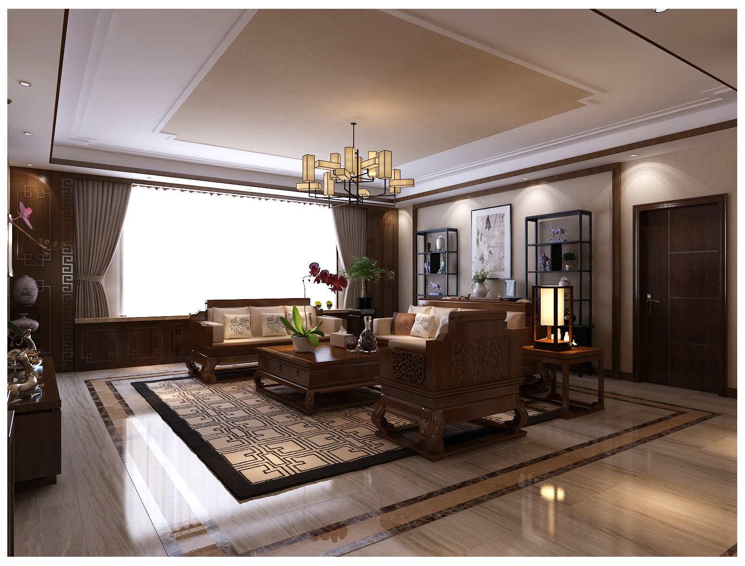 垦利信合家园220户型中式家装效果图