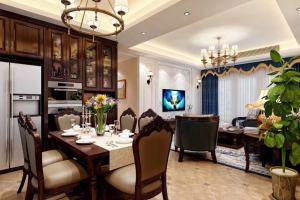 世贸香槟湖美式三居家装效果图