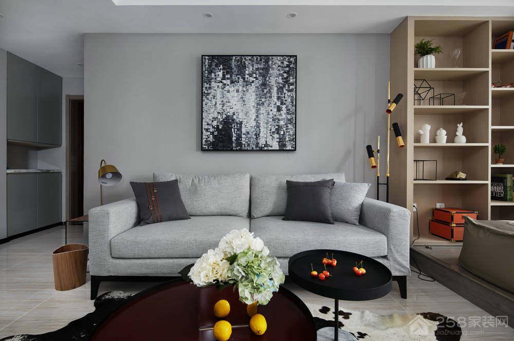 拓东大城3居室现代简约装修效果图