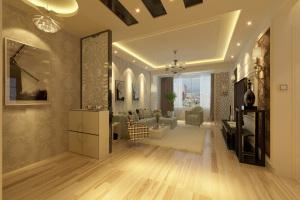 90平现代简约二居装修效果图