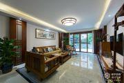嘉州洋房168平中式风格家装效果图