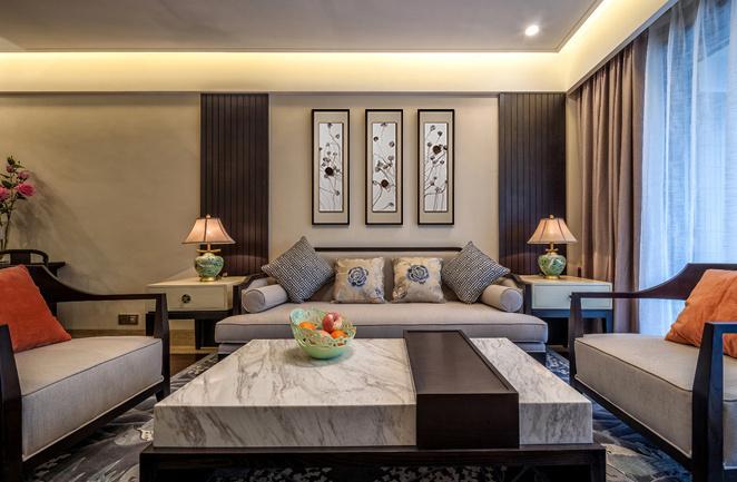 小户型中国风设计中式三居装修效果图