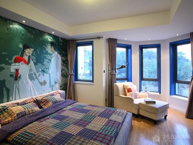 湖墅观止 三居室 92平-地中海风格