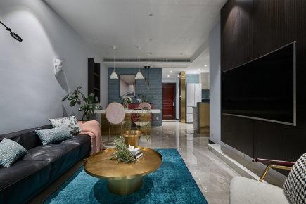保利香槟国际四居室现代风装修效果