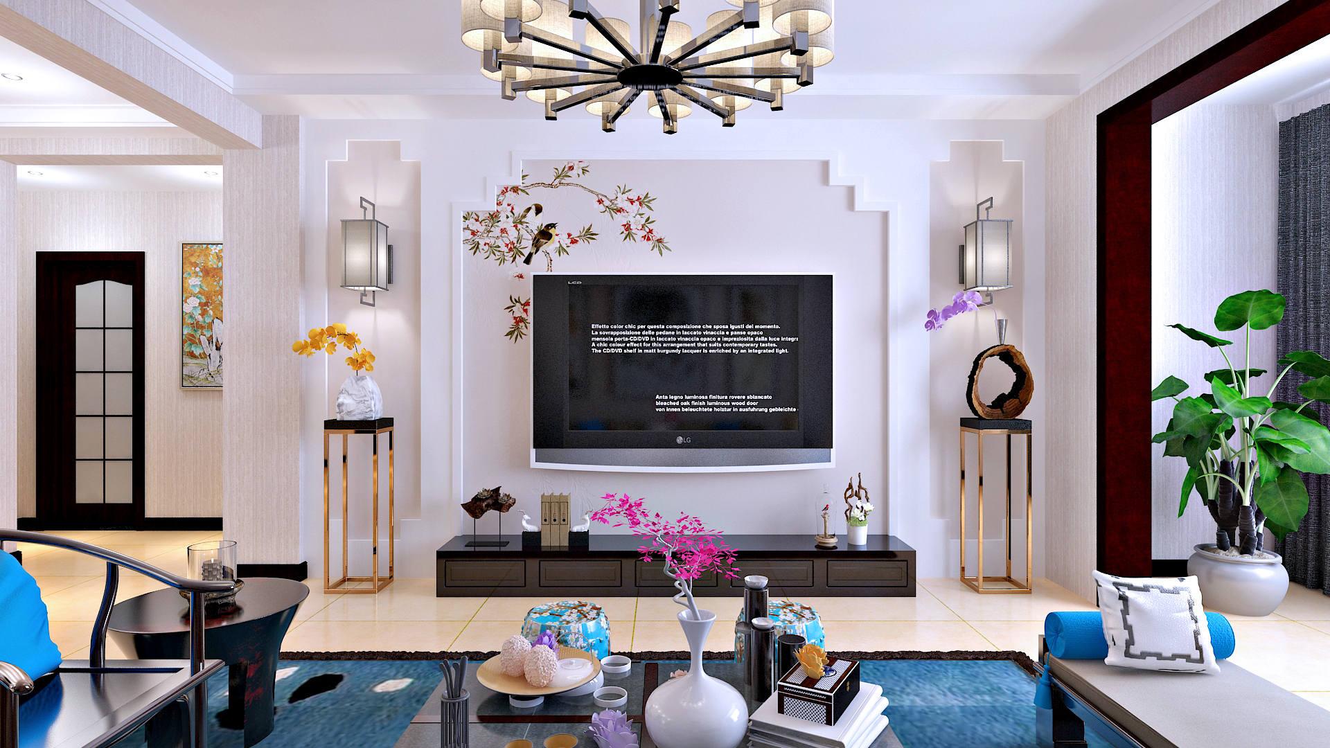 大名府邸150户型-中式风格-三居