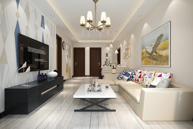 金科城+两室两厅一厨一卫-现代简约风格