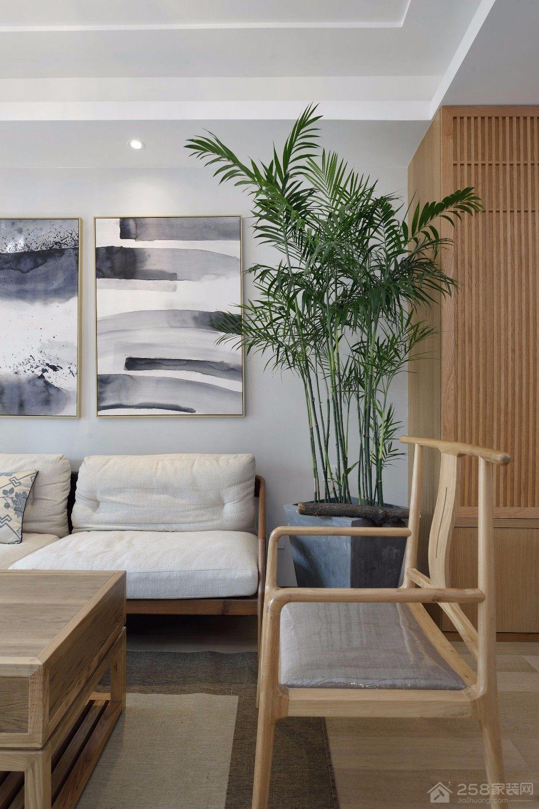 沿山花园三居室新中式风装修效果