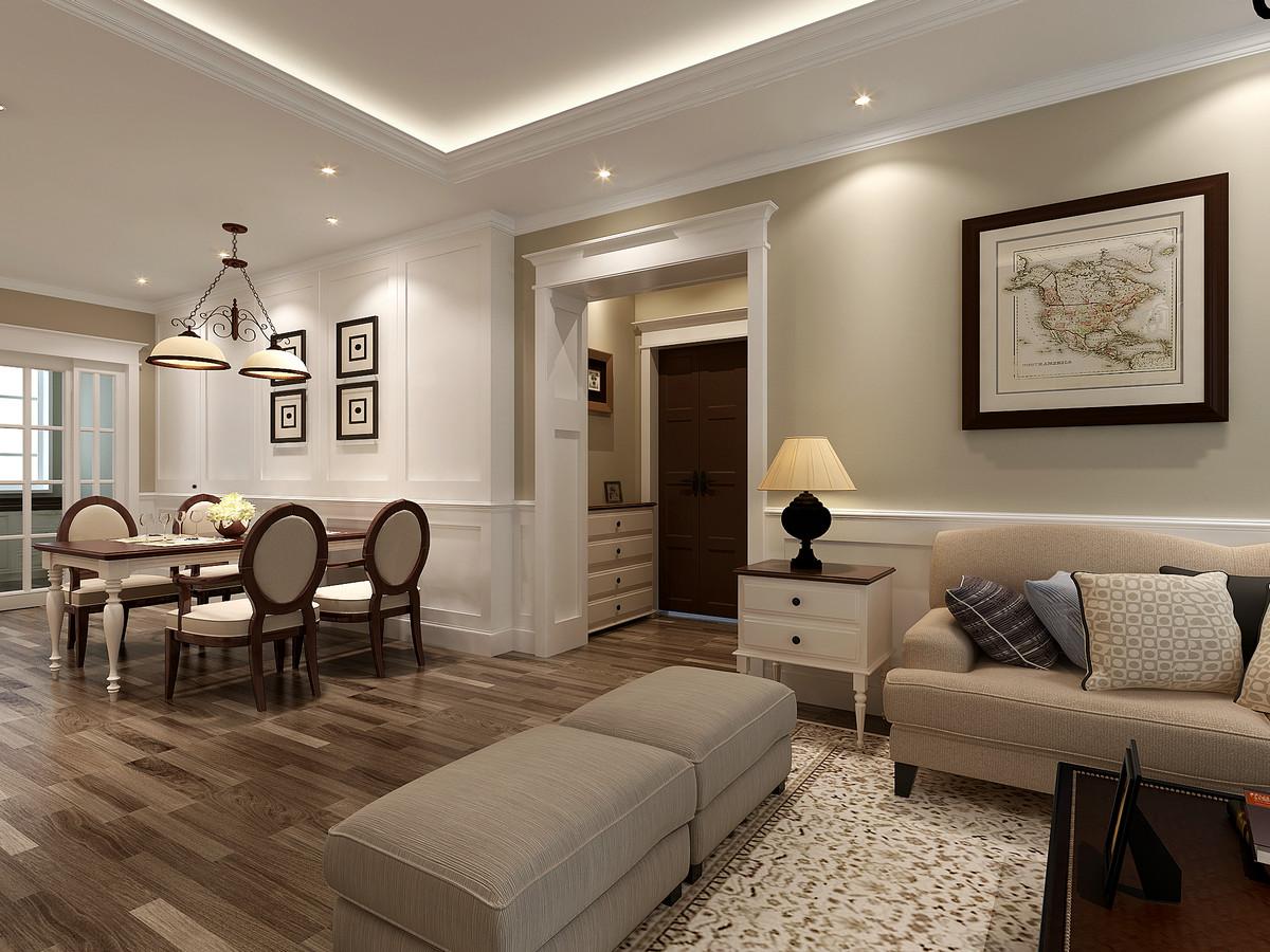 海门嘉陵江花苑+三室两厅-美式风格