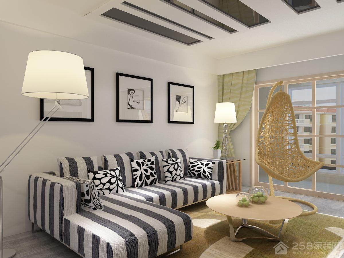 现代简约客厅设计效果图