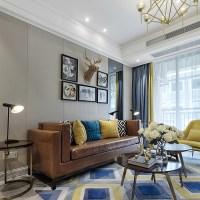 现代客厅沙发背景墙装修效果图