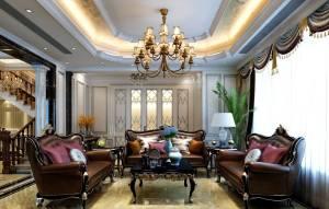 光大松湖城新古典复式家装效果图