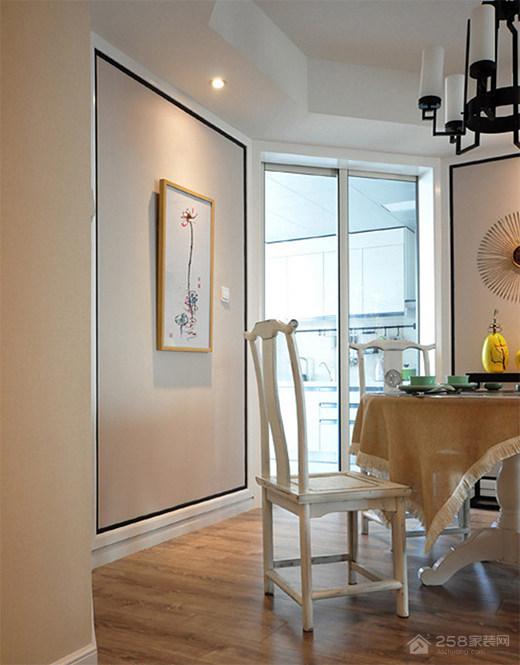 缦沙半岛四居室新中式家装效果