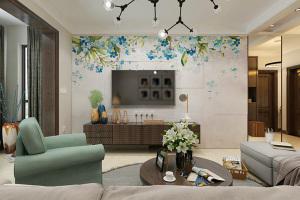巴登花园三居室现代简约家装效果