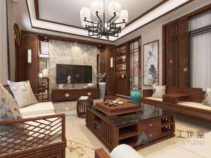 中海珀宫B2别墅310m²  中式