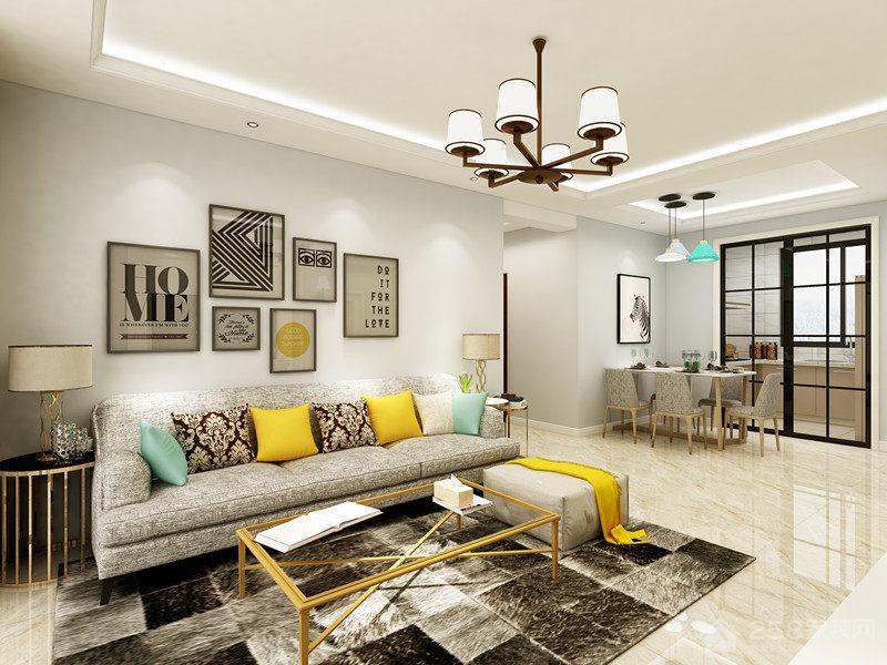 美式风格小户型客厅装修效果图