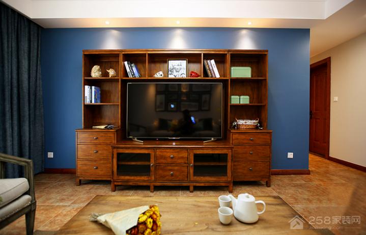 美式客厅电视柜装修效果图