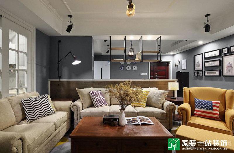 锦绣山河晓月湖创意工业风格家装效果图