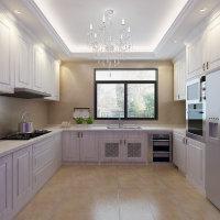 简约现代欧式厨房实木橱柜效果图欣赏