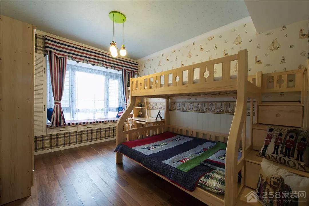 实用型木制儿童高低床效果图