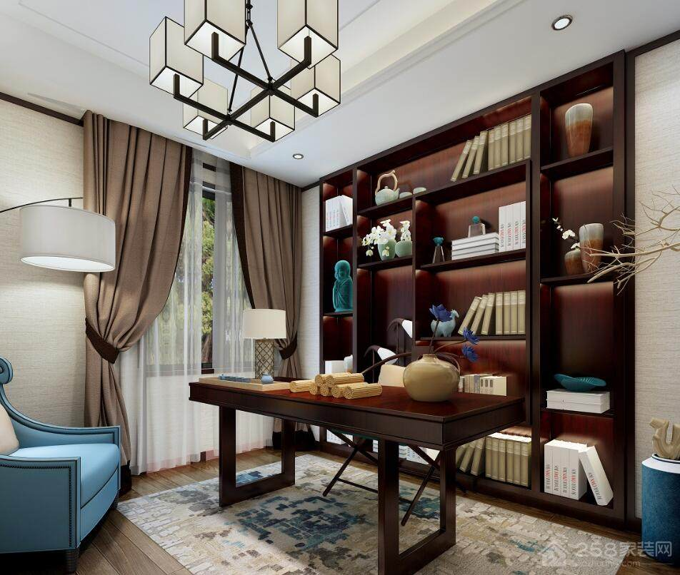 现代新古典风格书房装修效果图欣赏