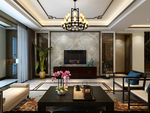 胜宏靓都新中式 别墅  315㎡四室两厅半包