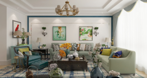 胜宏荣域   三室两厅  140㎡  美式风格
